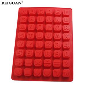 Christmas Jelly Candy Alphabet Ice Cube Chocolate Soap Tray