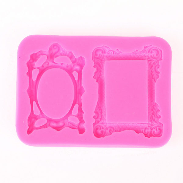Retro Mirror Frame chocolate Party cake decorating tools