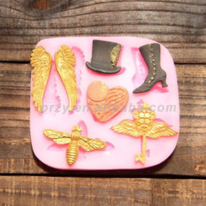 Fondant cake knight wind wings Bee Key for cake decorations