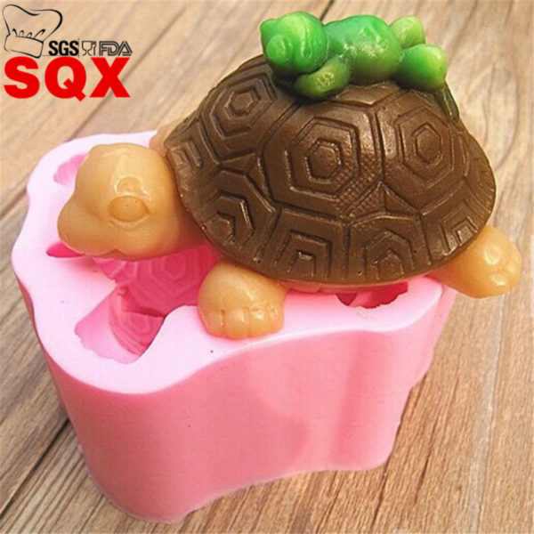 Sleeping in the back of the turtle frog soap silicone