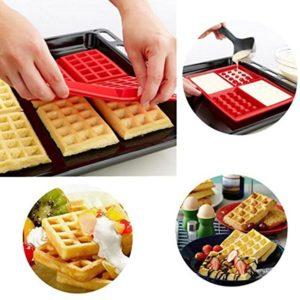 Safety 4-Cavity Waffles Cake Chocolate Pan Baking