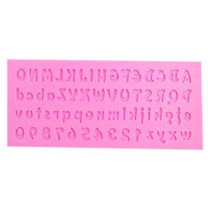 3D Number And Letter Shape form Cake Decoration Fondant