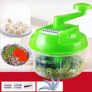 Cutter Hand Speedy Chopper Spiral Meat Fruit Shredder