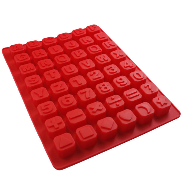 Christmas Jelly Candy Alphabet Ice Cube Chocolate Soap Tray