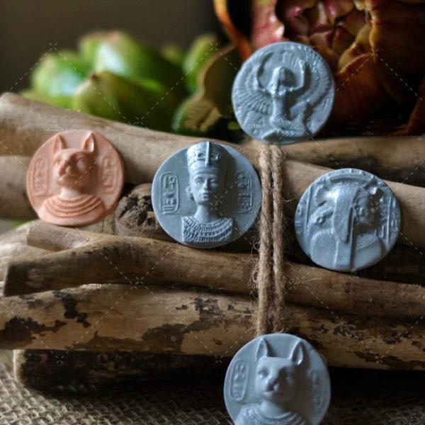 Pharaoh Coin Shape Fondant Paste Commemorative Medal Pressing