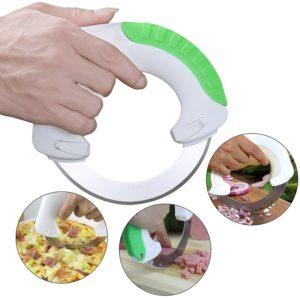 Vegetable Chopper Slicer Anti-slip Handle Round Sharp Knife