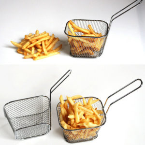 Qualified electroplate stainless steel Mini Frying net