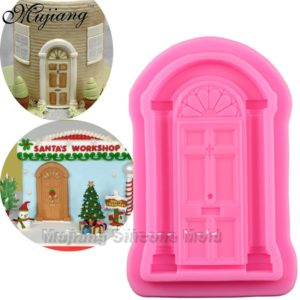 Retro Door Cake Border Silicone Molds Christmas Fondant