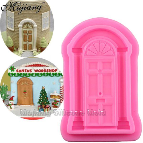 Retro Door Cake Border Silicone Molds Christmas Fondant