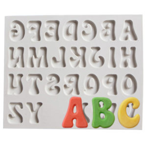 Upper Lower Letters Number silicone mold fondant