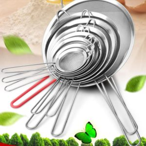 Kitchen Tools Gadgets Stainless steel screen filter spoon mesh Colanders Strainers