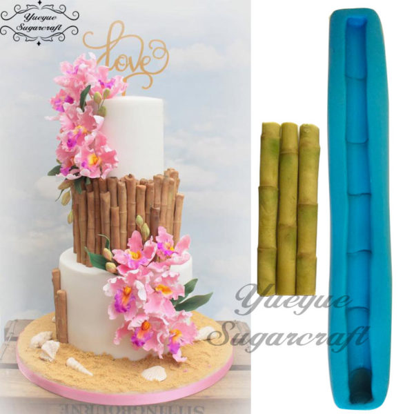 Sugar craft Bamboo silicone mold fondant