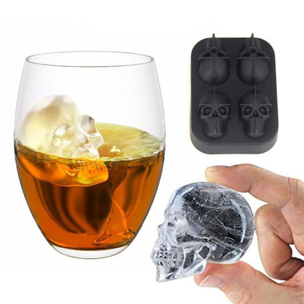 3D Skull  Silicone Mold Tray Cube