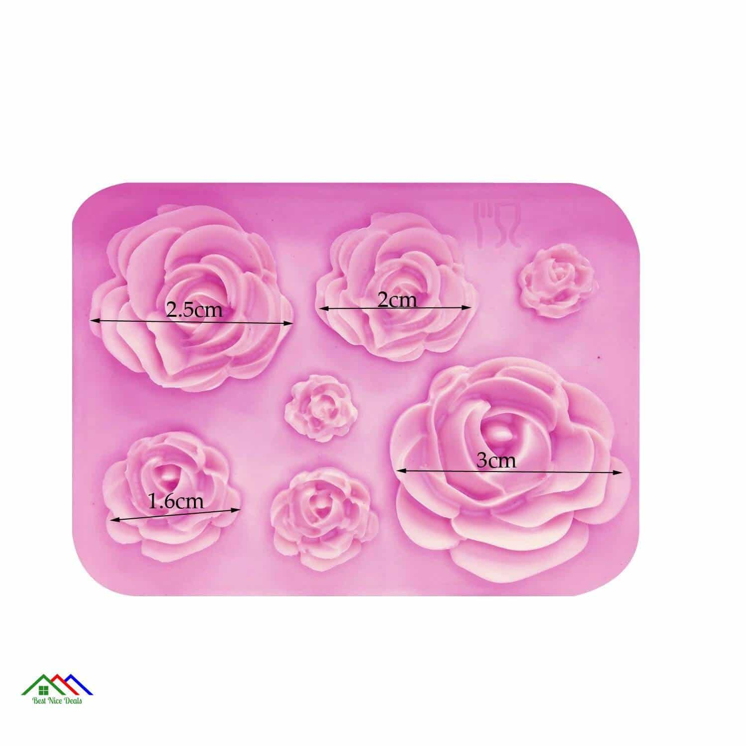 Rose Flower Petal Silicone Garden Roses Top Selling Products New Arrivals Kitchen Silicone Molds