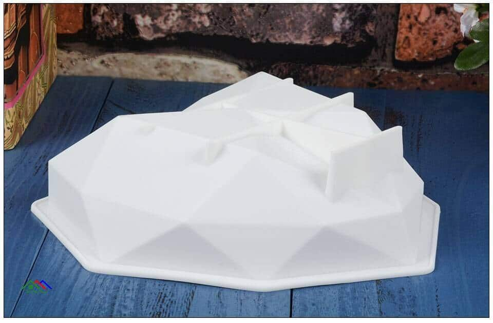 3D Diamond Love Heart Shape Silicone Mold Top Selling Products Kitchen Silicone Molds