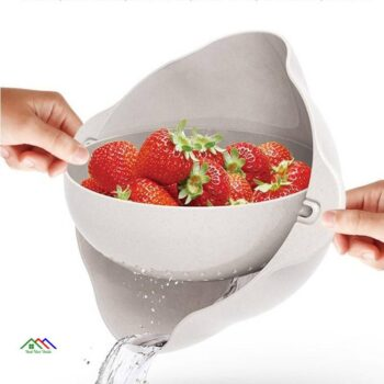 Kitchen Washing Basket Miniature Double Screen Fruits Vegetables Plastic On Sale Kitchen Colanders