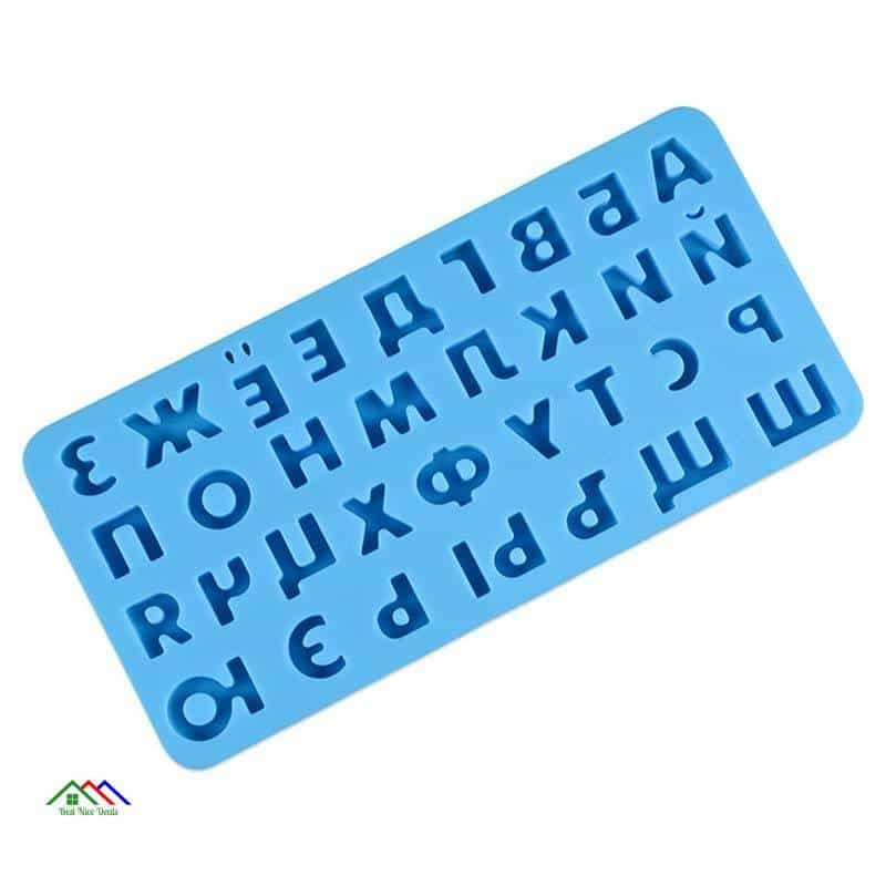3D Russian Alphabet Silicone Mold Letters Chocolate Kitchen Silicone Molds