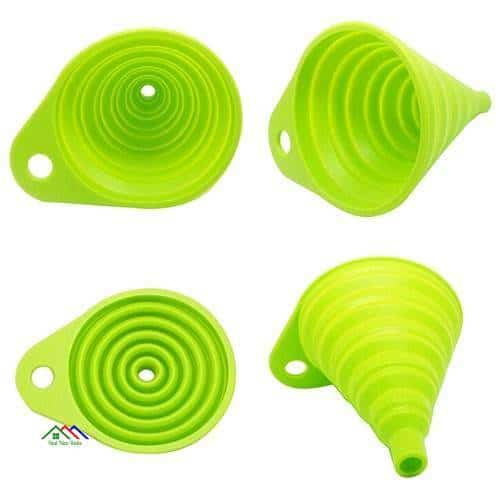 Mini Silicone Gel Foldable Collapsible Style Funnel New Arrivals Kitchen Colanders Silicone Molds