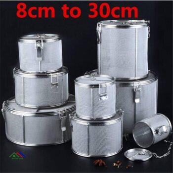 Kitchen Silver Cylinder Colander Kitchen Colanders