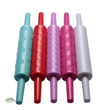 Heart Flower Pattern Rolling Pin Baking Cookies Top Selling Products Kitchen Rolling Pins