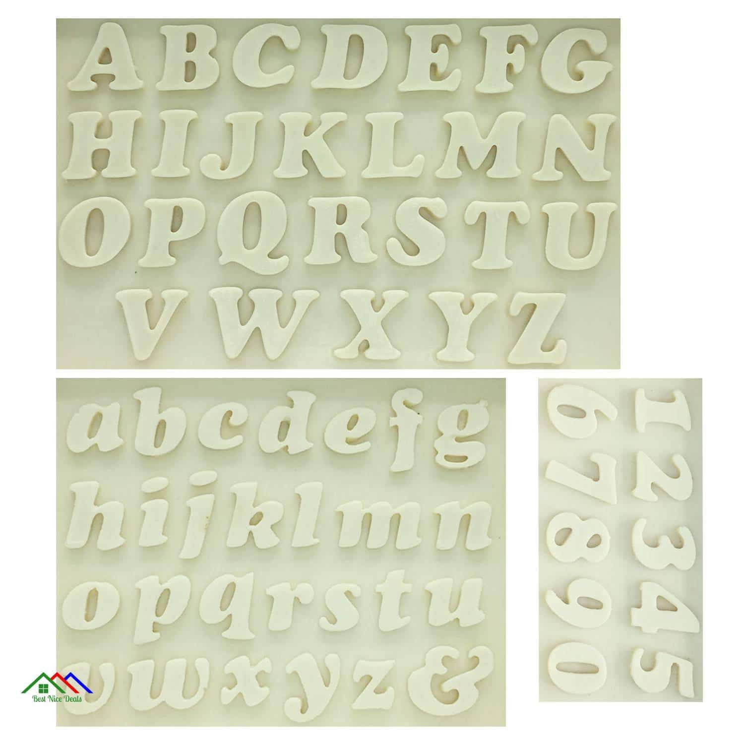 Letters Numbers Silicone Mold Kitchen Silicone Molds