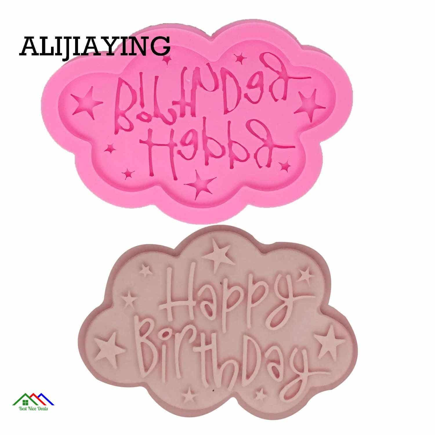Happy Birthday Silicone Mold On Sale Kitchen Silicone Molds
