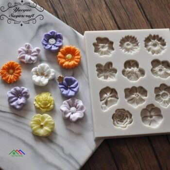 Flowers Silicone Mold For Cake Decorating Kitchen Silicone Molds
