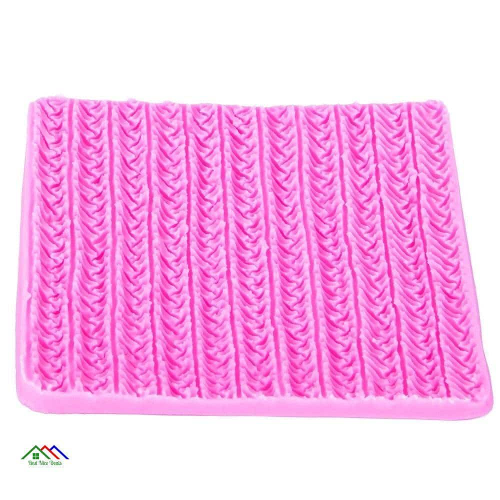 Pink Patterned Textile Cake Decorating Silicone Mold Kitchen Silicone Molds