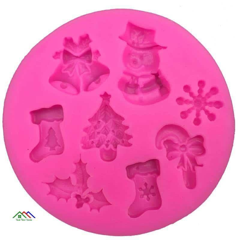 Christmas Cake Decorating Silicone Mold Kitchen Silicone Molds