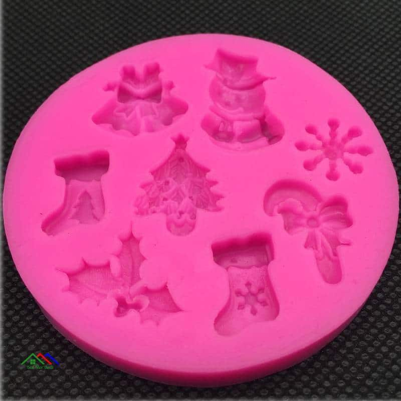 Christmas Cake Decorating Silicone Mold Kitchen Silicone Molds