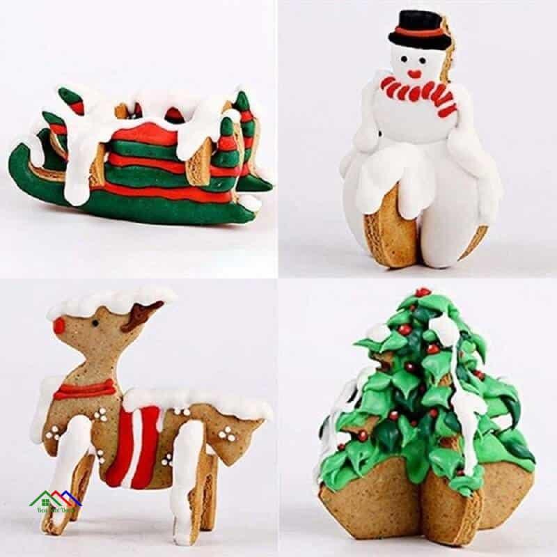 Christmas Day Animal Figure Clip Art Metal Kitchen Kitchen Slicers