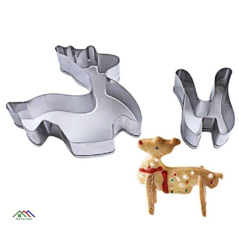 8pcs/set Stainless Steel Christmas Cookie Cutters 3D Cake Cookie Mold Fondant Cutter DIY Baking Tools Kitchen