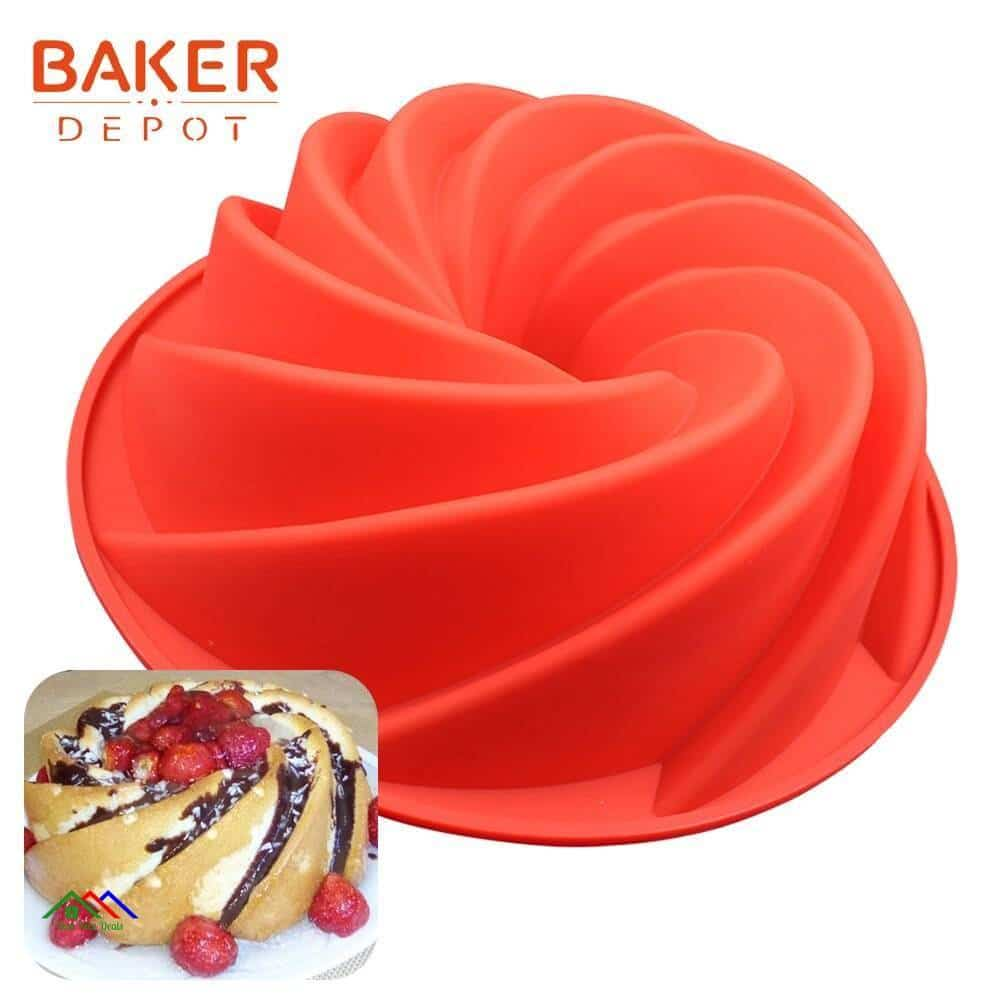 Silicone Mold for Cakes Flower Crown Shaped Kitchen Silicone Molds