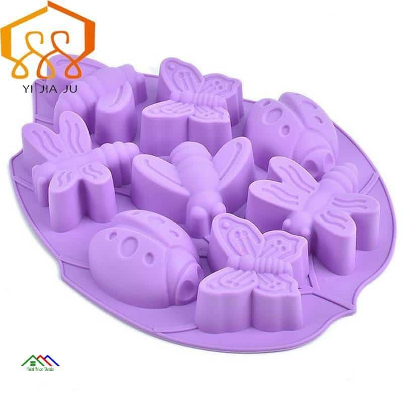 Baking Tools Insect/Bee/ Butterfly Shape Cake Mold Silicone Mold Candy Jelly Chocolate Mould Cake Decorator Kitchen