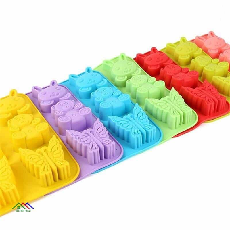 Silicone Cake Mold Soap Mold 6 Animals Winnie The Ice Lattice Chocolate Pudding Cake Mold Baking Tool Free Shipping Kitchen