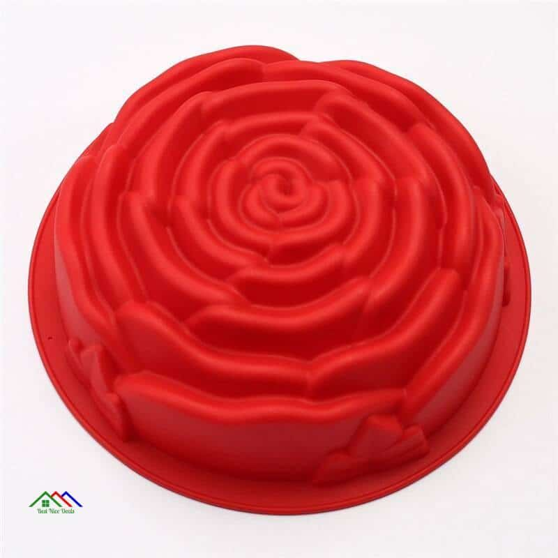 Baking Tools Large Rose Birthday Cake Celebration Party Cocktail Party Cake tools Silicone mold Kitchen