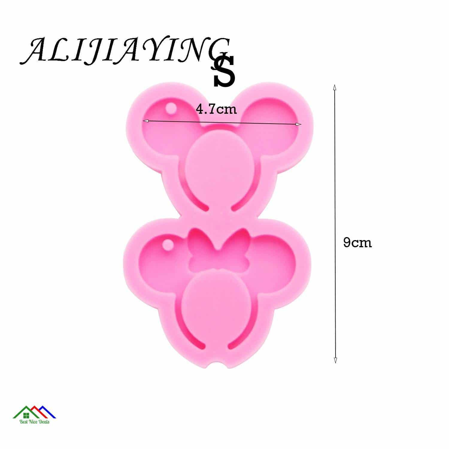 Minnie Mouse Shape Silicone Mold Keychain Kitchen Silicone Molds