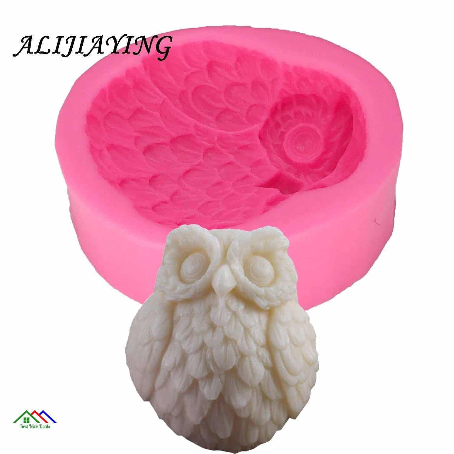 3D Owl Shape Silicone Mold Kitchen Silicone Molds