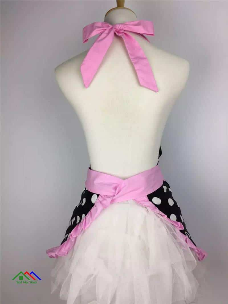 Black Pretty Patterned Doted Apron Top Selling Products Kitchen Aprons