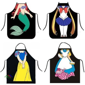 Cartoon Kitchen Textile Fashion Illustration Apron New Arrivals On Sale Kitchen Aprons