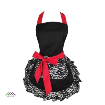 Ruffle Patterned Lace Apron On Sale Kitchen Aprons