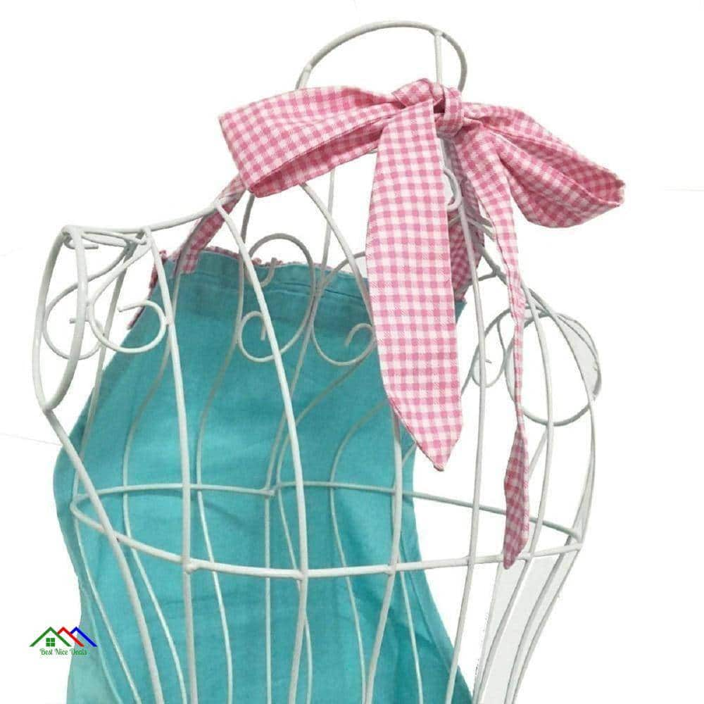 Light Blue Kitchen Textile Apron Kitchen Aprons