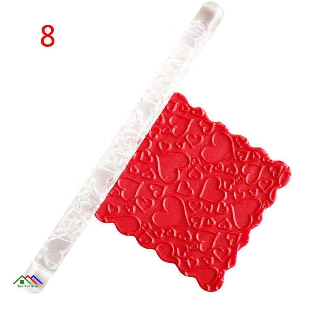 Acrylic Rolling Pin Designed Fondant Cake Kitchen Rolling Pins