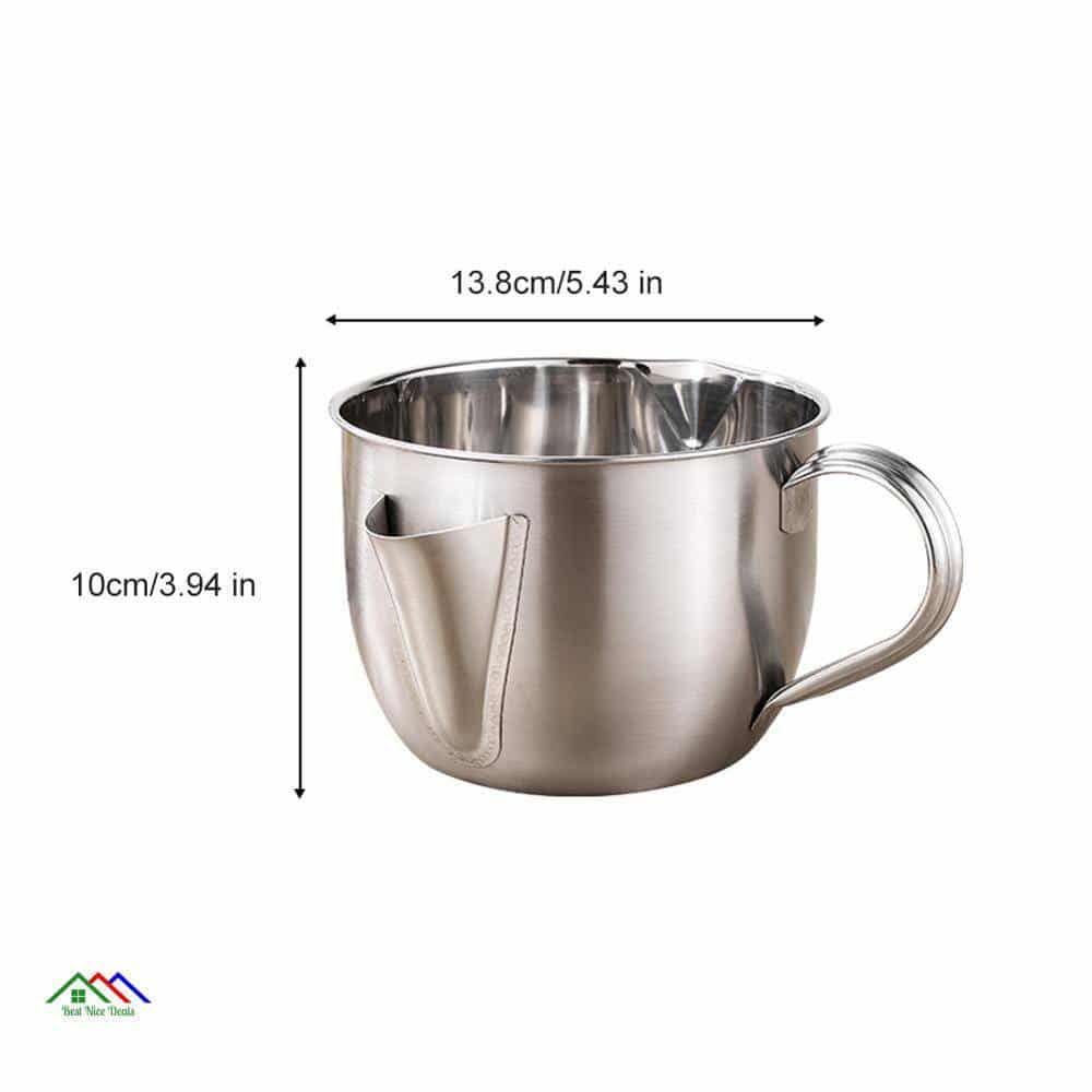 1000ML Multi-use Stainless Steel Gravy Oil Soup Fat Separator Grease Oiler Filter Strainer Bowl Home Kitchen Cooking Tools Kitchen Colanders