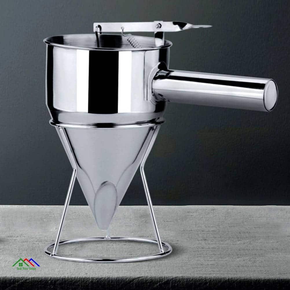 Stainless Steel Piston Funnel Kitchen Colanders