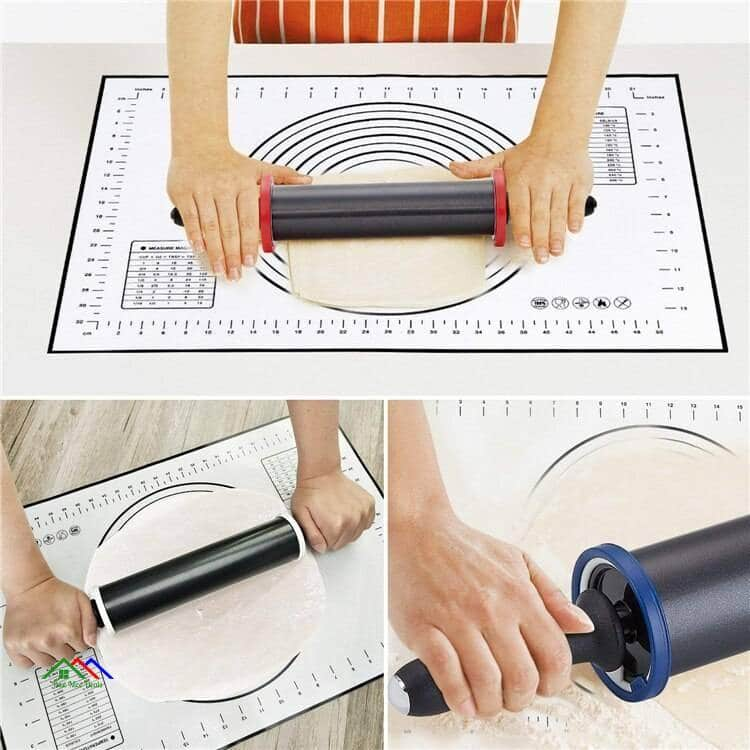 Thickness Rings With Stainless Steel Rolling Pin Kitchen Rolling Pins