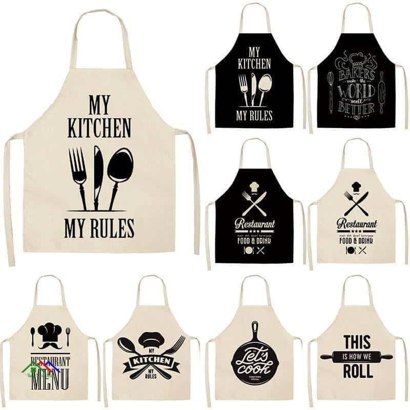 Kitchen Linen Apron Kitchen Aprons