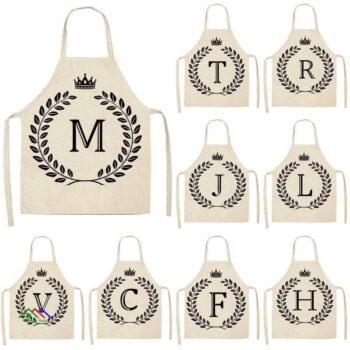 Pretty Alphabetic Kitchen Apron Kitchen Aprons