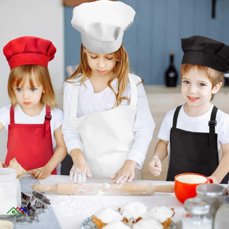 Child Front Pocket Apron Kitchen Aprons