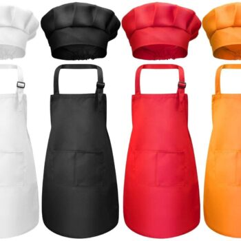 Child Front Pocket Apron Kitchen Aprons